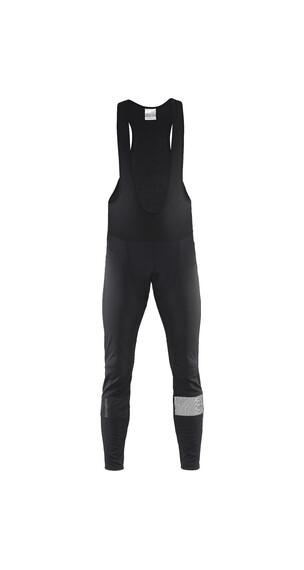 Craft Verve Glow Spodnie na szelkach długie Mężczyźni czarny/srebrny